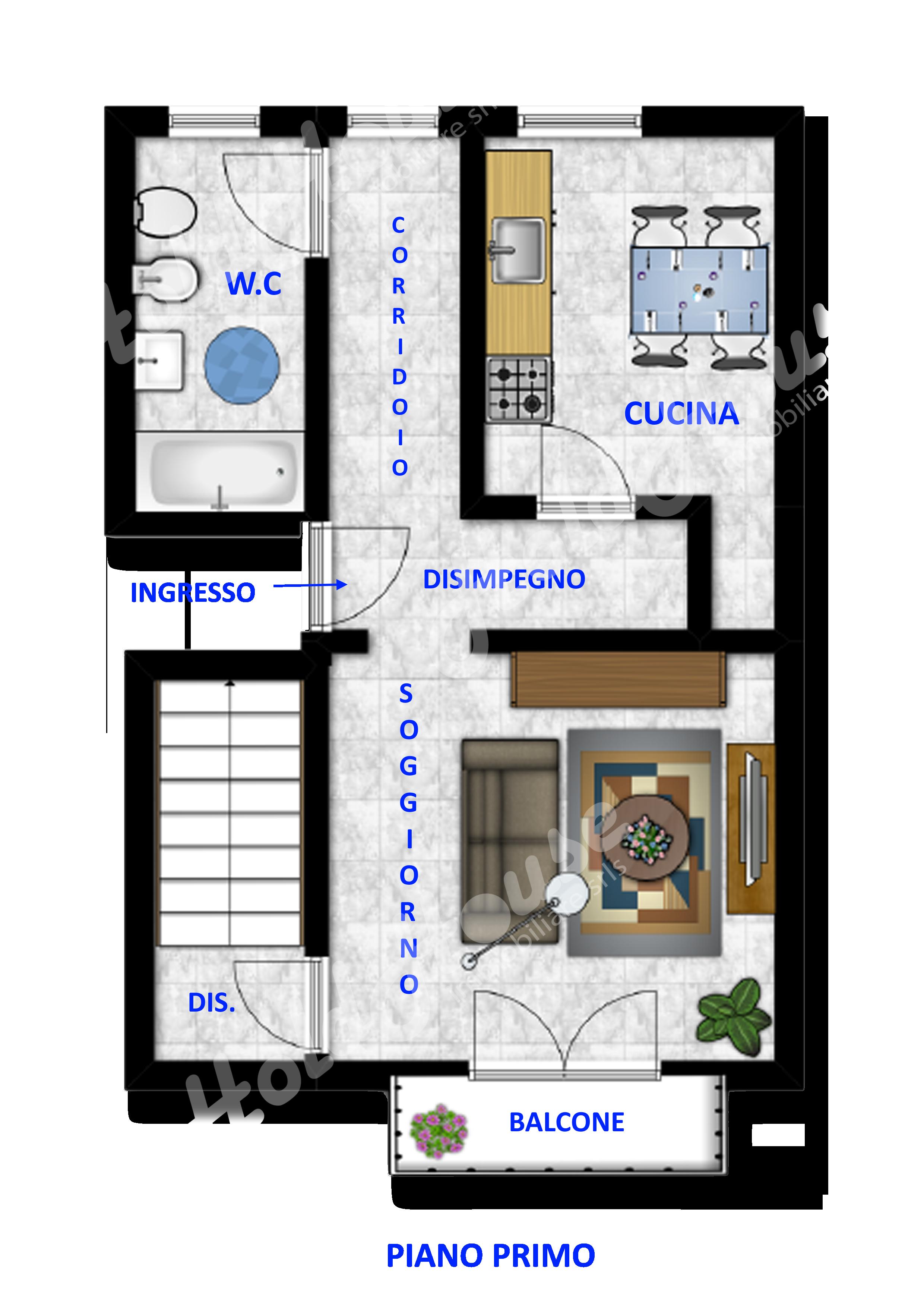 Cod hold120 appartamento dislocato su due livelli for Seminterrato su due livelli